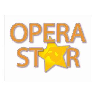 Opera Star Postcard