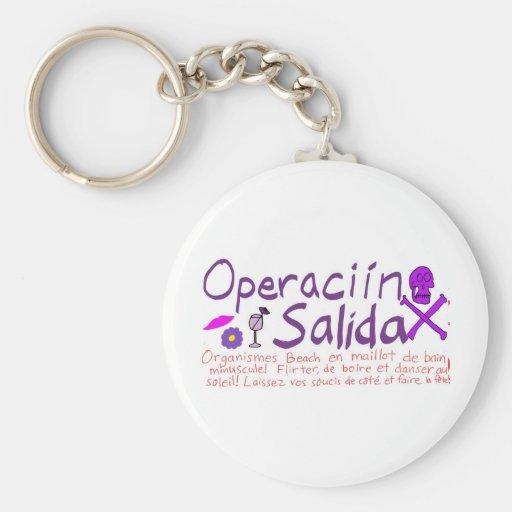 Operaciín Salida Llavero Redondo Tipo Pin