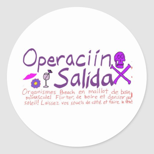Operaciín Salida Pegatinas Redondas