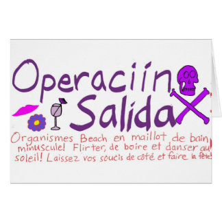 Operaciín Salida Tarjeta De Felicitación