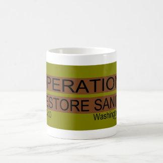 Operación: cordura del restablecimiento taza