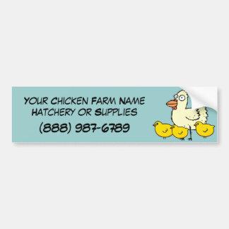 Operación de encargo de la granja avícola del poll etiqueta de parachoque