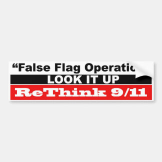 Operación falsa de la bandera etiqueta de parachoque