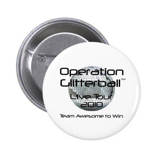 Operación Glitterball: El botón vivo del viaje Pins