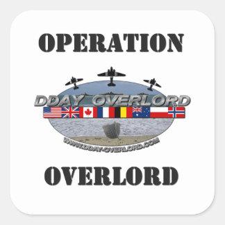 Operación Overlord 1944 Pegatina Cuadrada