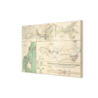 Operaciones del ejército de Potomac Impresión En Lona