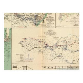 Operaciones del ejército de Potomac Tarjetas Postales
