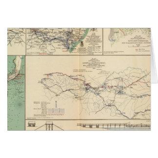 Operaciones del ejército de Potomac Tarjeton