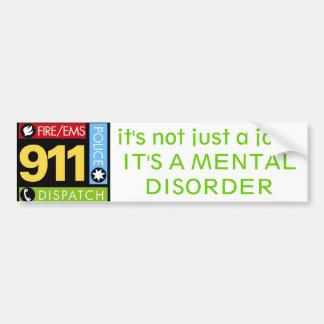 Operador 911 pegatina para auto