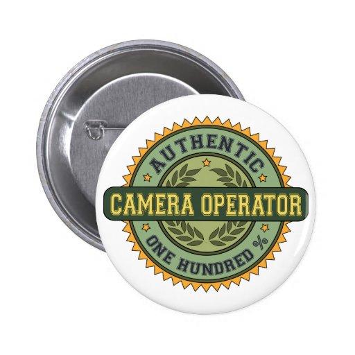 Operador auténtico de la cámara pins