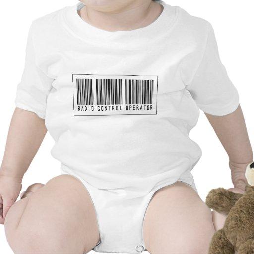 Operador de control de radio del código de barras trajes de bebé