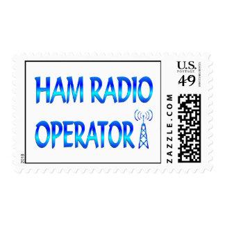 Operador de equipo de radio-aficionado envio