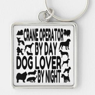 Operador de grúa del amante del perro llaveros personalizados