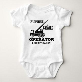 Operador de grúa futuro body para bebé