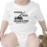 Operador de grúa futuro trajes de bebé