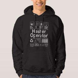 Operador de Hasher Sudadera Encapuchada