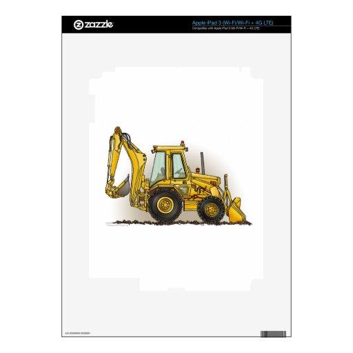 Operador de la retroexcavadora pegatinas skins para iPad 3