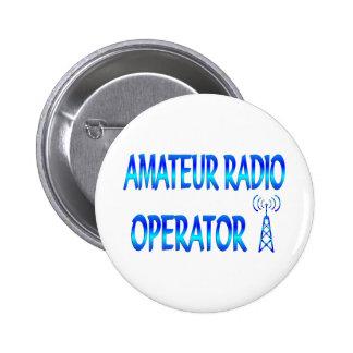Operador de radio aficionado pin redondo de 2 pulgadas