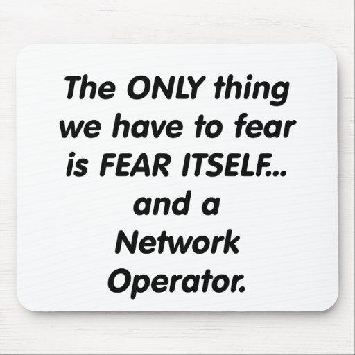 operador de red del miedo tapetes de ratones