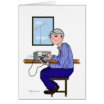Operador de sexo masculino del jamón - pelo gris tarjetas