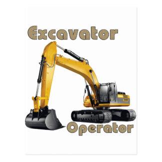 Operador del excavador tarjeta postal