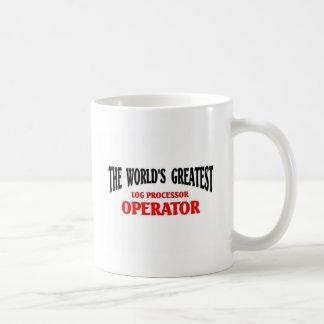 Operador del procesador del registro taza básica blanca