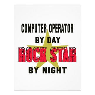 Operador por el día rockstar por noche plantilla de membrete