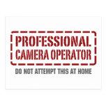 Operador profesional de la cámara postales