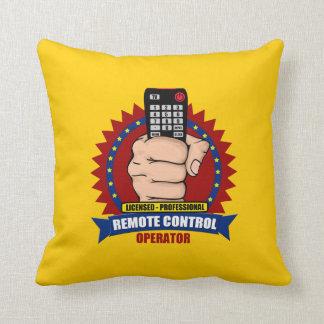 Operador teledirigido almohada