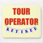 Operador turístico jubilado tapetes de ratones