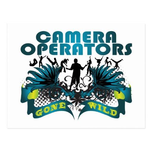 Operadores de la cámara idos salvajes postal