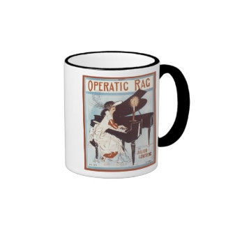 Operatic Rag Vintage Songbook Cover Coffee Mug