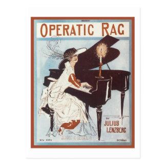 Operatic Rag Vintage Songbook Cover Postcard