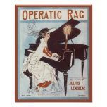 Operatic Rag Vintage Songbook Cover Poster