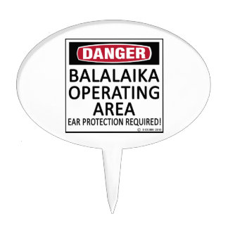 Operating Area Balalaika Cake Topper
