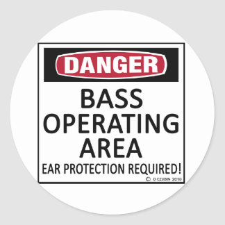 Operating Area Bass Classic Round Sticker