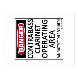 Operating Area Contrabass Clarinet Postcards