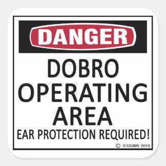 Operating Area Dobro Square Sticker