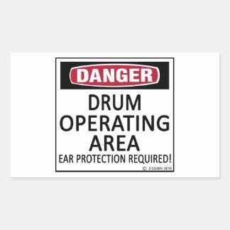 Operating Area Drum Rectangular Sticker