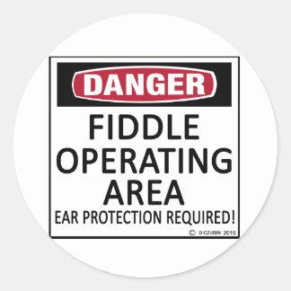Operating Area Fiddle Classic Round Sticker