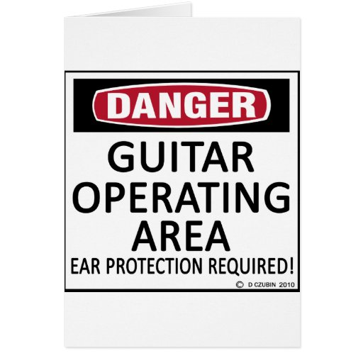 Operating Area Guitar Card