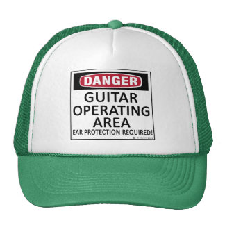Operating Area Guitar Mesh Hats
