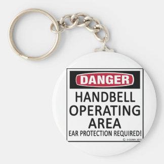 Operating Area Handbell Basic Round Button Keychain
