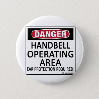 Operating Area Handbell Pinback Button