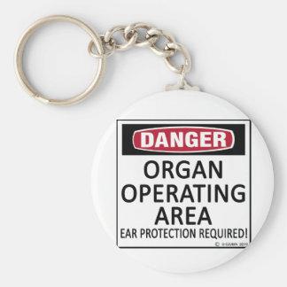 Operating Area Organ Keychain