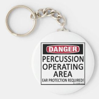 Operating Area Percussion Basic Round Button Keychain