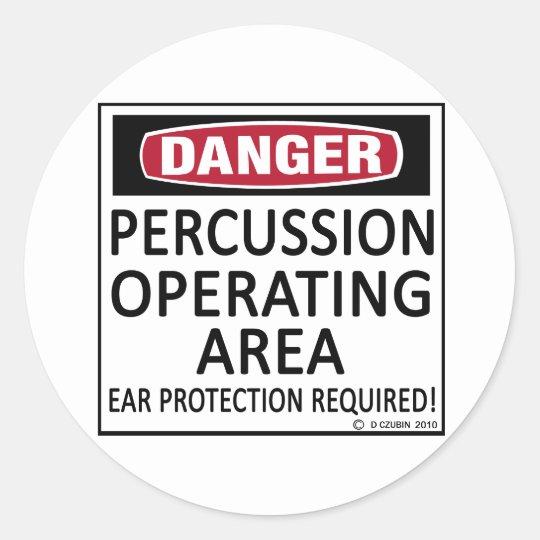 Operating Area Percussion Classic Round Sticker