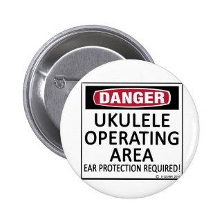 Operating Area Ukulele Pinback Button