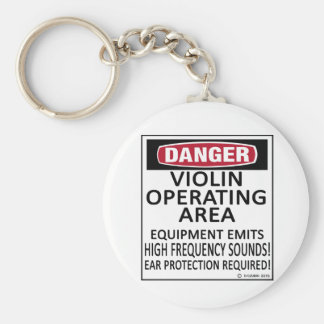 Operating Area Violin Keychain