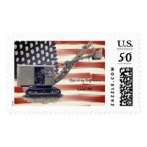 Operating Engineer Shovel US Flag Custom Local Postage
